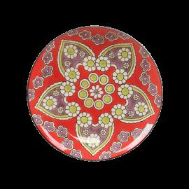 Talíř ručně malovaný červený