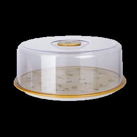 Dortový talíř žlutá kvítka