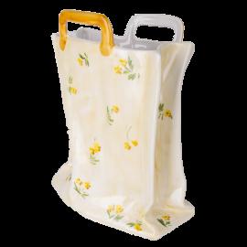 Váza taška maxi žlutá kvítka