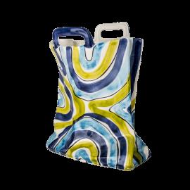 Váza taška modrozelené pruhy