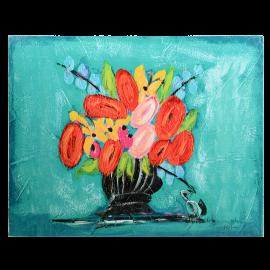 Obraz modré Květiny