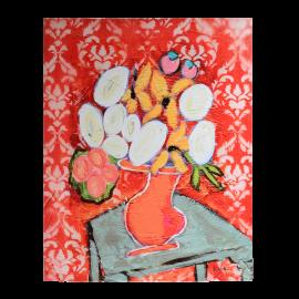 Obraz červené Květiny