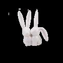 Porcelánový králíček na prstýnky