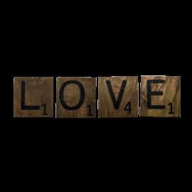"""Nástěnná dekorace """"Love"""""""