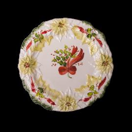 Natale talíř vánoční hvězda bílá III.