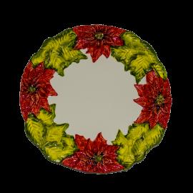 Natale talíř vánoční hvězda červená II.