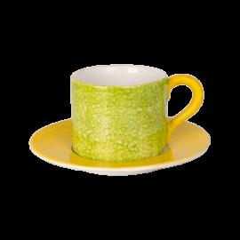 Colours šálek s podšálkem zelený