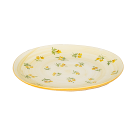 žlutá kvítka talíř