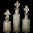 Skleněná láhev Fleur de Lis - set 3ks