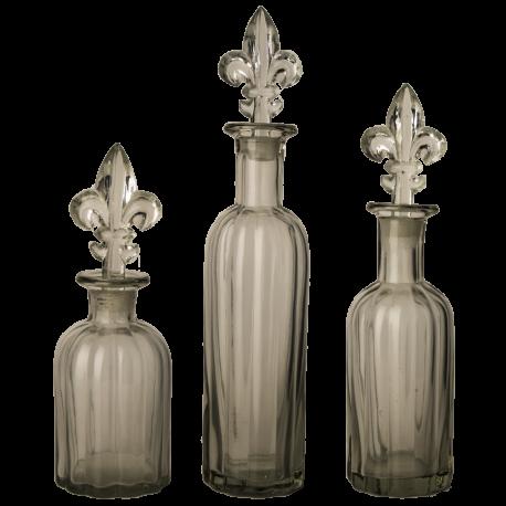 Skleněná láhev Fleur de Lis s uzávěrem