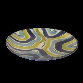 Modrozelené pruhy talíř