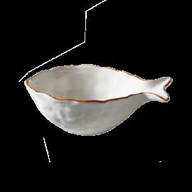 Miska Rybka velká - krémová
