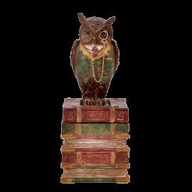 Dekorace Sova na knihách