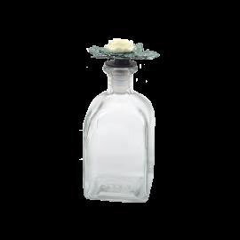 Skleněná dekorativní lahev Květina
