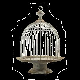 Kovový zahradní stojan Ptačí klec