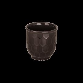 Kelímek Včelí plástev černá