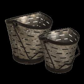 Dekorativní kbelík - set 2 kusy