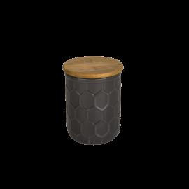 Malá dóza Včelí plástev šedá