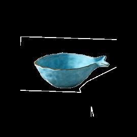 Miska Rybka malá - tyrkys