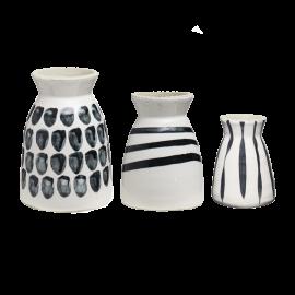Set 3 váz Black & White