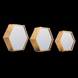 Zrcadlo šestiúhelník - set