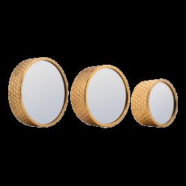 Zrcadlo nástěnné kulaté - set