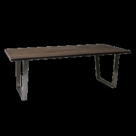 Jídelní stůl, Americký ořech, nerezová podnož