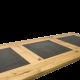 Jídelní stůl, Drásaný dub, 3x kámen žula detail