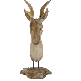 Hlava jelena - dřevo