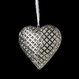 Srdce kovové střední