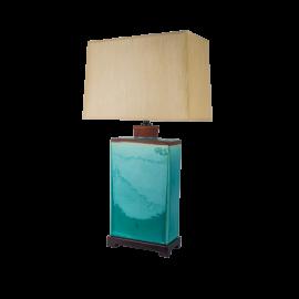 Lampa stolní zelená