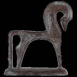 Bronzová soška Trojský kůň - velká