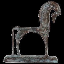 Bronzová soška Trojský kůň