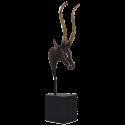 Bronzová soška Impala - hnědá