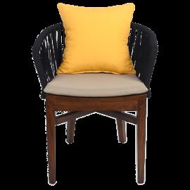 Jídelní židle s polštáři - venkovní