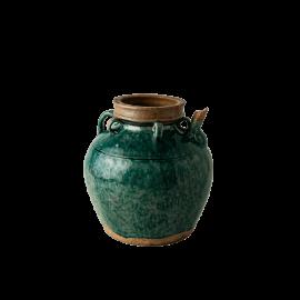 Dekorativní stará nádoba zelená