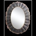 Zrcadlo kovové oválné