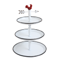 Dekorativní stojan Kohout - 3patra