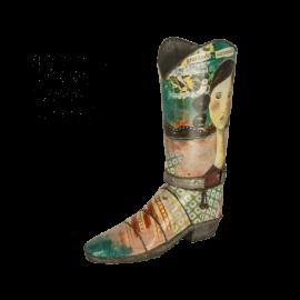 Váza Kelly Rae Kovbojská bota